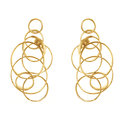 dada arrigoni_circles collection_circles earrings in gold plated bronze with black spinel