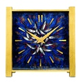 Lot 348_Patek Philippe.unique brass & enamel square solar clock with pocket watch movement