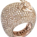 dadaarrigoni_happy frog special edition ring in rose gold with brown diamonds and diamonds