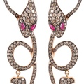 dadaarrigoni_malafemmina earrings in rose gold brown black diamonds and rubies (2)