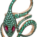 dadaarrigoni_malafemmina ring in rose gold with emeralds and rubies