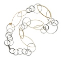 dada arrigoni_circles collection_circles necklace in 925 ancient silver with elements in gold bathed brass and spinel (2)
