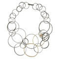 dada arrigoni_circles collection_circles necklace in 925 ancient silver with elements in gold bathed brass and spinel