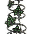 dada arrigoni_leaves collection_leaves full-finger ring in 750 black gold with tsavorite