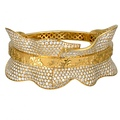1.4 DA13305 010101 CERVANTES BRACELET IN YELLOW GOLD AND DIAMONDS
