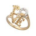 DA13753 030101 LOVE ring in white and yellow golds with diamonds