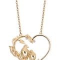 DA13800 010101 LOVE necklace in yellow gold and diamonds
